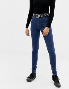 Прямые джинсы стретч из переработанного и органического хлопка с завышенной талией Cheap Monday - Синий