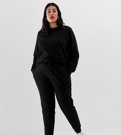 Спортивный костюм с джоггерами и свитшотом ASOS DESIGN Curve - Черный