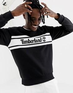 Черный свитшот с принтом логотипа Timberland - Черный