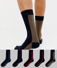 Набор из 5 пар носков в подарочной упаковке Ben Sherman - Мульти