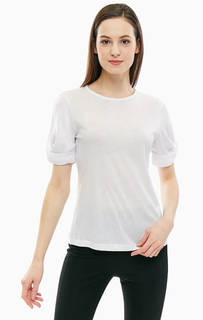 Белая однотонная футболка с короткими рукавами Tommy Hilfiger