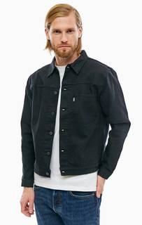 Джинсовая куртка черного цвета с застежкой на болты Line 8 Levis®