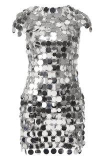 Платье-кольчуга с короткими рукавами Paco Rabanne