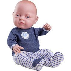 """Кукла-пупс Paola Reina """"Бэби"""" в синих ползунках, 45 см"""