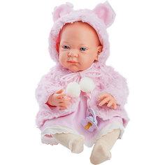 """Кукла-пупс Paola Reina """"Бэби"""" в розовой накидке, 36 см"""