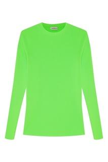 Зеленый джемпер в рубчик Balenciaga