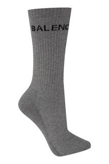 Серые хлопковые носки Balenciaga Man