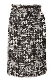 Юбка с декоративными застежками Dolce & Gabbana