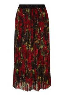 Юбка-плиссе с цветочным принтом Dolce & Gabbana
