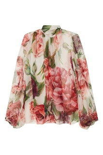 Блузка с розовым принтом Dolce & Gabbana
