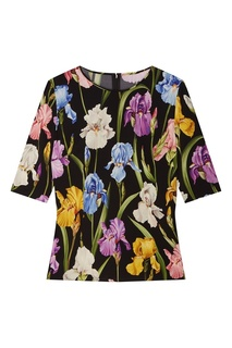 Топ с цветами Dolce & Gabbana