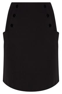 Короткая черная юбка Sandro