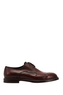 Кожаные туфли на шнуровке Dolce & Gabbana