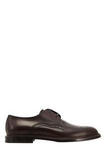 Темно-коричневые туфли Dolce & Gabbana