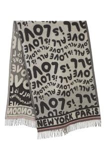 Серый шарф с рисунком Stella Mc Cartney