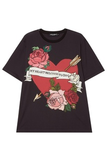 Черная футболка из хлопка Dolce & Gabbana