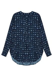 Шелковая блуза с цветочным принтом Amina Rubinacci