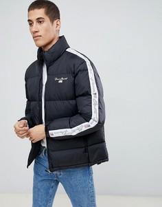 Черная дутая куртка с логотипом Penn Sport - Черный