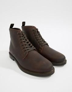 Вощеные кожаные ботинки коричневого цвета WALK London Darcy - Коричневый