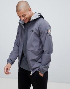 Серая легкая куртка с фирменной лентой на капюшоне ellesse Migliore - Серый