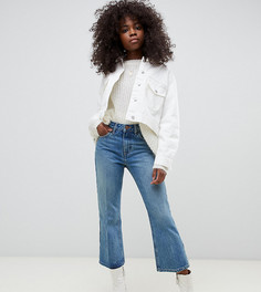 Укороченные расклешенные джинсы ASOS DESIGN Petite Recycled Egerton - Синий