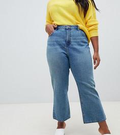 Сине-зеленые укороченные джинсы ASOS DESIGN Curve - Синий
