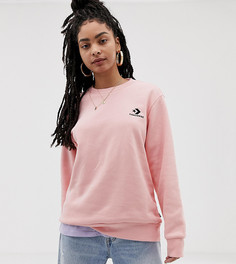 Свободный свитшот с круглым вырезом Converse - Розовый