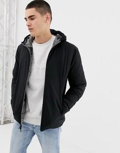 Двухсторонняя дутая куртка с камуфляжным принтом Jack & Jones Originals - Черный