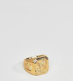 Серебряное позолоченное кольцо с орлом Serge Denimes - Золотой