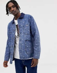Джинсовая куртка с принтом логотипа HUF Domestic - Синий