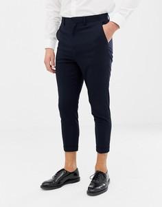 Укороченные узкие брюки Only & Sons - Темно-синий