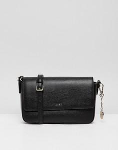 Черная кожаная сумка через плечо DKNY bryant - Черный