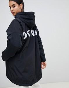 Куртка с капюшоном и логотипом DKNY - Черный