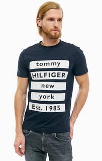 Хлопковая футболка с контрастными нашивками Tommy Hilfiger