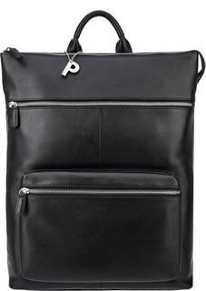 Черный кожаный рюкзак с отделением для ноутбука Picard