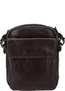 Маленькая кожаная сумка с широким плечевым ремнем Aunts & Uncles
