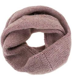 Розовый шарф-хомут с содержанием шерсти Noryalli