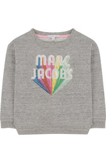 Хлопковый свитшот с пайетками Marc Jacobs