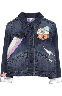 Джинсовая куртка с аппликациями Marc Jacobs
