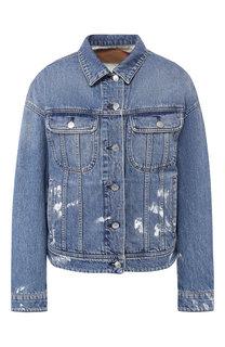 Джинсовая куртка с потертостями Acne Studios
