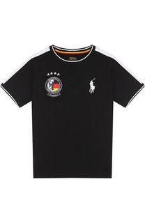 Хлопковая футболка с логотипом сборной Германии Polo Ralph Lauren