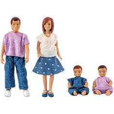 Куклы для домика Lundby Семья с двумя малышами