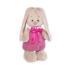 Мягкая игрушка Budi Basa Зайка Ми в платье в розовую полоску, 32 см