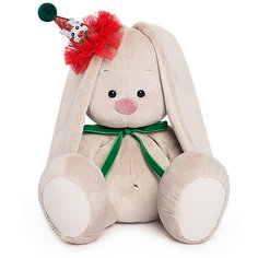 Мягкая игрушка Budi Basa Зайка Ми в колпачке с зеленым бантиком, 23 см