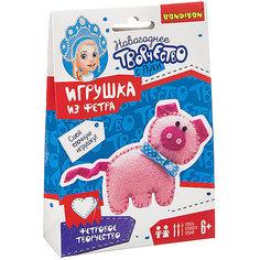 """Набор для творчества Bondibon """"Ёлочные игрушки"""" Свинья из фетра"""