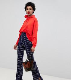 Плиссированные брюки в горошек Glamorous Tall - Темно-синий