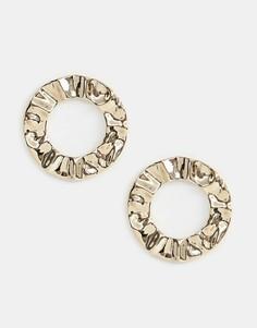 Золотистые броские серьги-кольца Missguided - Золотой