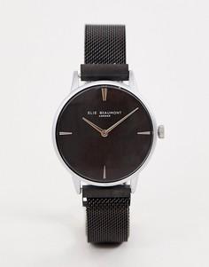Черные часы с сетчатым ремешком Elie Beaumont - Черный