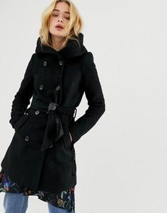 Шерстяное пальто с капюшоном Vero Moda - Красный