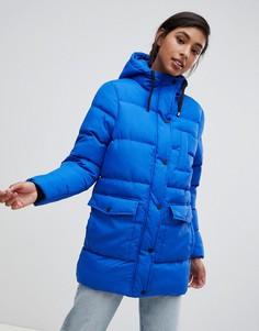 Дутая удлиненная куртка Brave Soul - Синий